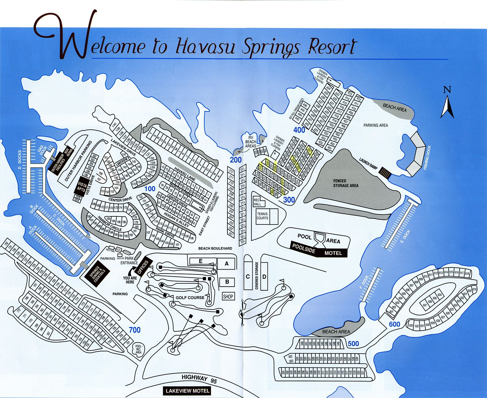 Havasu Springs Park Map