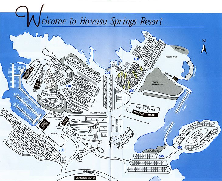 Havasu Springs Park Map - Havasu Springs RV Resort