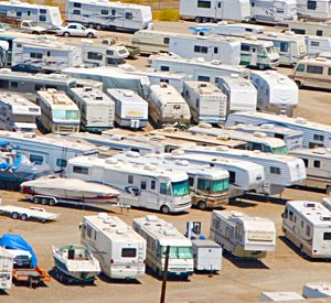 Year Round RV Storage at Havasu Springs Resort